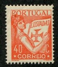 Portugal SC# 506 Portuga holding volume of Lusiads creased MNH