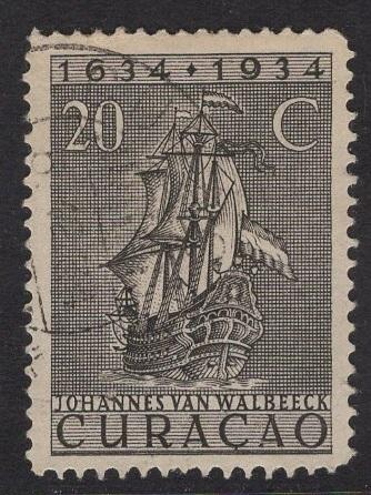 Netherlands Antilles  #119  1934 used  Curacao  300 yrs  20C