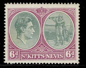 ST KITTS-NEVIS GVI SG74d, 6d green & purple, M MINT. Cat £10.