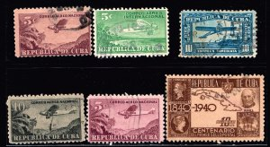 CUBA STAMP USED AIR MAIL STAMPS LOT #2