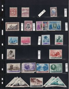 ITALY SAN MARINO 4 STOCK PAGES COLLECTION LOT 88 STAMPS SOME NH U/M