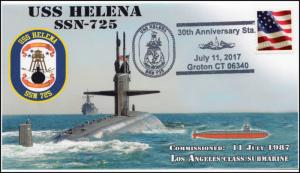 17-314, 2017,USS Helena, Event Cover, Pictorial Postmark, SSN-725