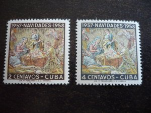 Stamps - Cuba - Scott# 588-589 - Mint Hinged Set of 2 Stamps