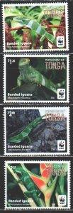 Tonga. 2016. 2098-2101. WWF, lizard, fauna. MNH.