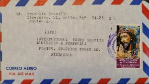 A) 1977, GUATEMALA, COVER SHIPPED TO FINLAND, AIRMAIL, PRO RECOVERY OF THE CULTU