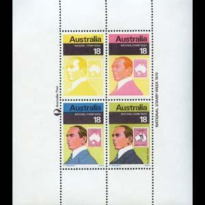 AUSTRALIA 1976 - Scott# 648 S/S Stamp Week NH