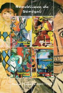 Senegal 1999 Sc#1436 PICASSO PAINTINGS Sheetlet (4) Perforated MNH