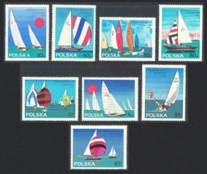 Poland World Finn Sailing Championships Gdynia 8v SG#1566-1573 SC#1324-1331