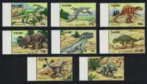 Nauru Dinosaurs and Prehistoric Animals 8v Margins SG#629-636