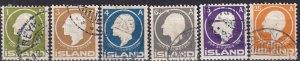 Iceland #86-91  F-VF Used CV $95.75  (Z7787)