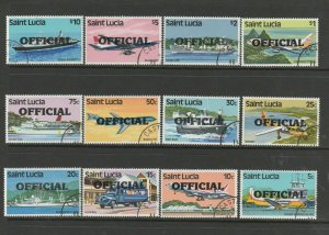 St Lucia 1983 Official Opts on 1980 defs VFU/CTO SG O1/12