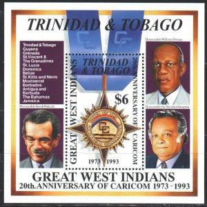 Trinidad and Tobago. 1994. bl43. Order of the Caribbean Community. MNH.