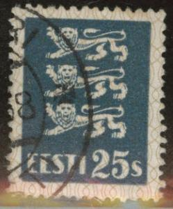 Estonia Scott 100 used from 1928-1940 Arms set