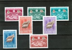 Maldive Islands 1963 FAO  Fish in Net Set(7) MNH Sc#117/123