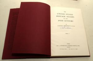 3 United States Postage Stamps 19th Century Hardcover Lester G Brookman SIGNED!