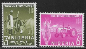 Nigeria 141-42 Freedom From Hunger set MNH