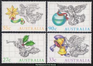 Australia Scott 967-970 Mint never hinged.