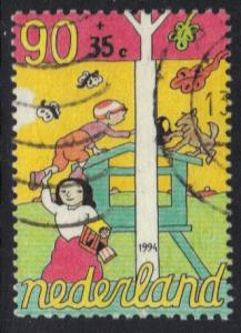 Netherlands 1994  used child welfare  'together'   90ct   #