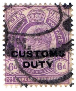 (I.B) Cape of Good Hope Revenue : Customs Duty 6d