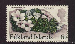 1972 Falkland Is 6p Scurvy Grass Fine Used SG284