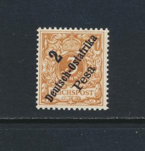 GERMAN EAST AFRICA 1896, 2p on 3pf BR BROWN OCRE, VF MLH Mi#6c €140 (SEE BELOW)