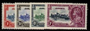 JAMAICA GV SG114-117, SILVER JUBILEE set, M MINT. Cat £21.