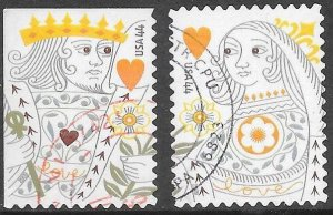 US 4404-4405 Used - Love - King & Queen of Hearts