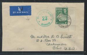 BERMUDA (P1106B) KGVI 1/-  COVER CENSOR 23 TO USA