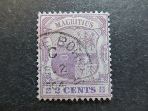 A4P42F26 Mauritius 1900-05 Wmk Crown CA 2c used