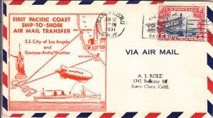 1931, 1st Pacific Coast Ship-Shore Airmail Transfer, San Pedro, CA (S18285)