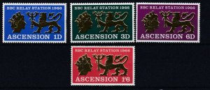 ASCENSION  1966  BBC RELAY STATION  SET  MNH