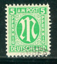 Germany AM Post Scott # 3N4a, used