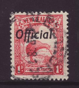 1936 New Zealand 1d Official Die II F/U SGO121