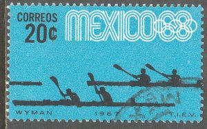 MEXICO 981, 20c Canoeing 3rd Pre-Olympic Set 1967, Used. VF. (638)