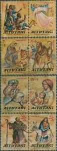Aitutaki 1977 SG239-246 Children Christmas Fund set MLH