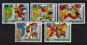 Upper Volta #323-4 & C179-181 Soccer Cpl. set CTO Used Sports