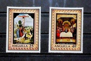British Colony Anguilla 1969 Easter Commemoration MH* Full Set A22P15F8705