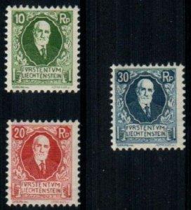 Liechtenstein Scott B1-3 Mint hinged [TE340]