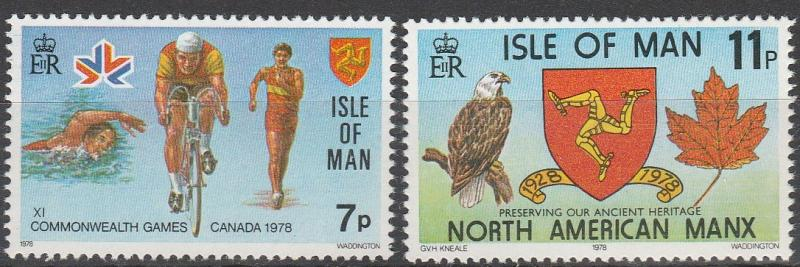 Isle Of Man #139-40  MNH  (S9821)