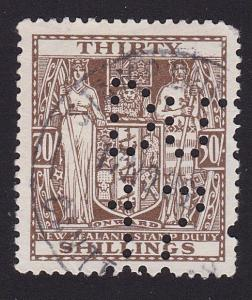 NEW ZEALAND ARMS TYPE STAMP DUTY 30/- used..................................7816