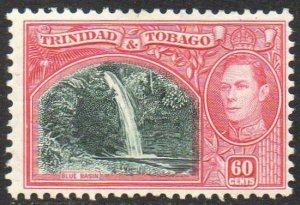 TRINIDAD & TOBAGO 1938 60c myrtle-green and carmine MH