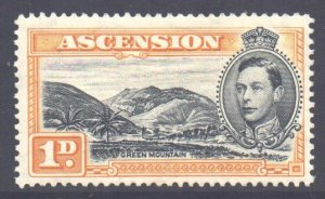 Ascension Scott 41c - SG39a, 1938 George VI 1d Perf 13.1/2 MH*
