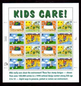 Kids Care Sheet 2951-4 Mint NH