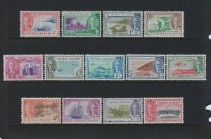CAYMAN ISLANDS SCOTT #122-134 1950 GEORGE VI PICTORIALS   - MINT HINGED