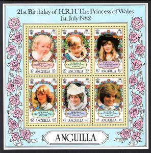 Anguilla 490a Princess Diana Souvenir Sheet MNH VF