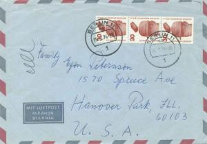 Germany Berlin 30pf Accident Prevention (3) 1974 Berlin 11, 1 Airmail to Hano...