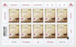 H01 Monaco 2019 Monacophil 2019 Sheetlets