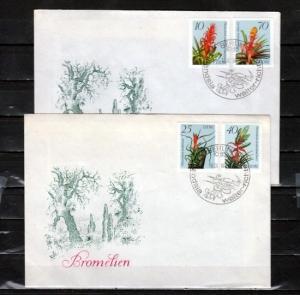 German Dem. Rep., Scott cat. 2656-2659. Flowering Plants. 2 First day covers.