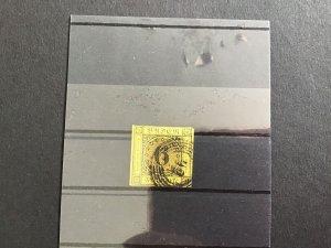 Badén 1853 SG11 3 margin  used imperf stamp R29604