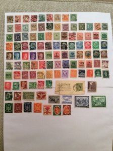 Early German 100+ stamps - Lot A